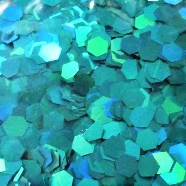 alluring aqua holographic 5mm hex