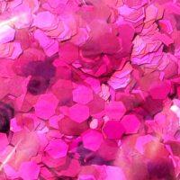 fuchsia holographic 5mm hex gliiter