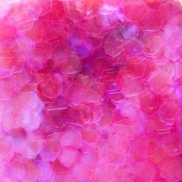 Pink Violet iridescent 5mm large hex glitter