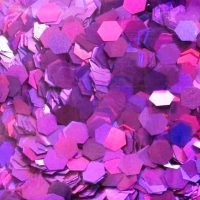 purple holographic 5mm hex glitter