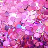 pink holographic 5mm hex