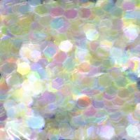 white rainbow 5mm hex colour shifting iridescent glitter