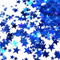 Sapphire Blue holographic stars