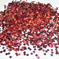 3D effect flaming red jewel shapes