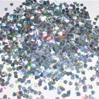 3D effect silver holographic jewel shapes
