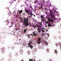 pink metallic stars