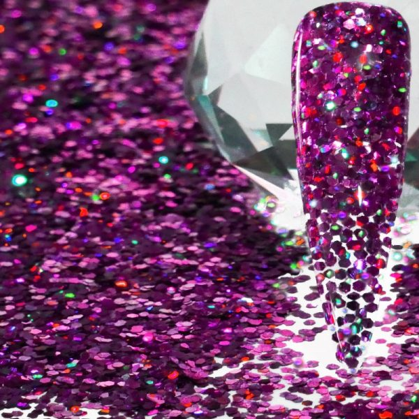 Fuchsia Holographic .040 Thick Gauge