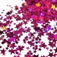 fuchsia holographic stars