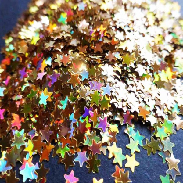 Gold holographic stars