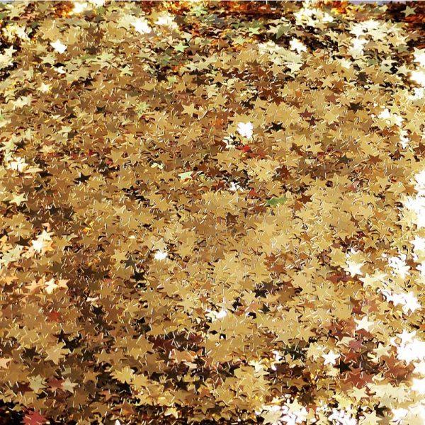 gold metallic stars 4mm size