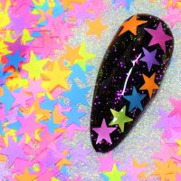 Neon Star Mix 6 8mm Size Mixed Pack