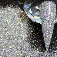Silver Holographic Chunky Fine Mix 008 015 040