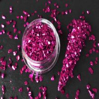 fuchsia crushed glass