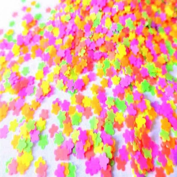 Neon Flower Shapes