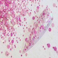 bridal pink glitter