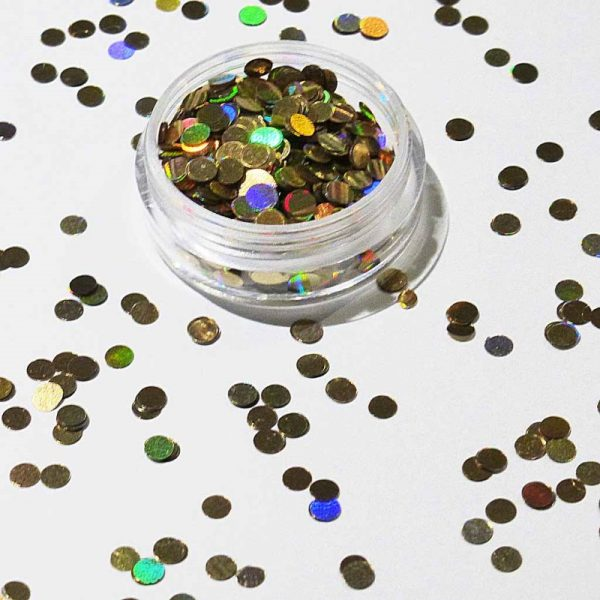 gold holographic 3mm dots