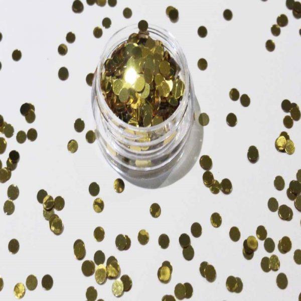 gold metallic dots