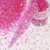 Ice Pink Tiny Mylar Shards