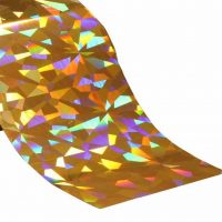 Gold Holographic Pattern Foil