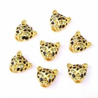 leopard head alloy decoration