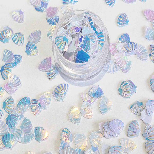 Mermaid white shells