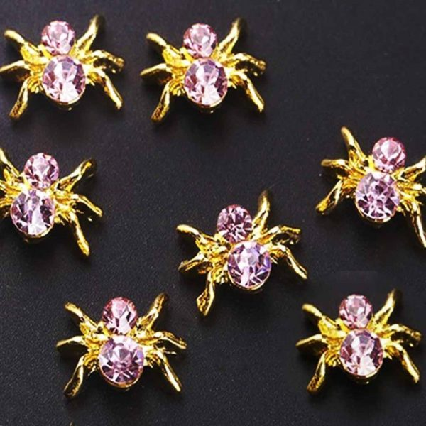 spider with pink crystal body