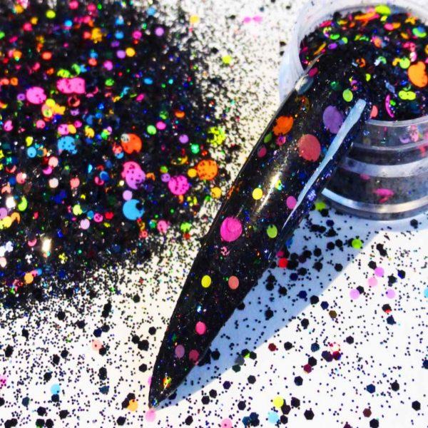Polka Dot Neon Glitter Mix