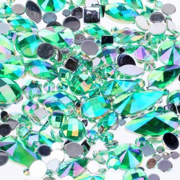 Aqua acrylic jewel gems
