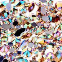 ab champagne acrylic jewel gems
