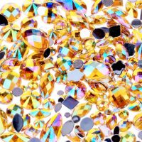 ab gold acrylic jewel gems