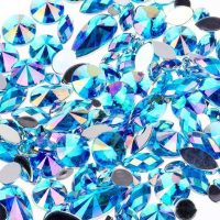 ab light blue acrylic jewel gems