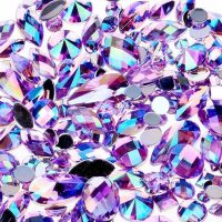 ab purple acrylic jewel gems