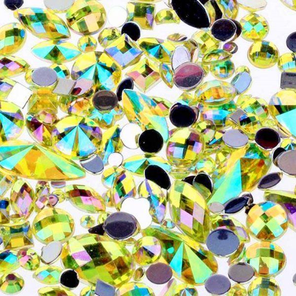 yellow ab acrylic jewel gems