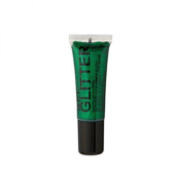 green glitter body gel