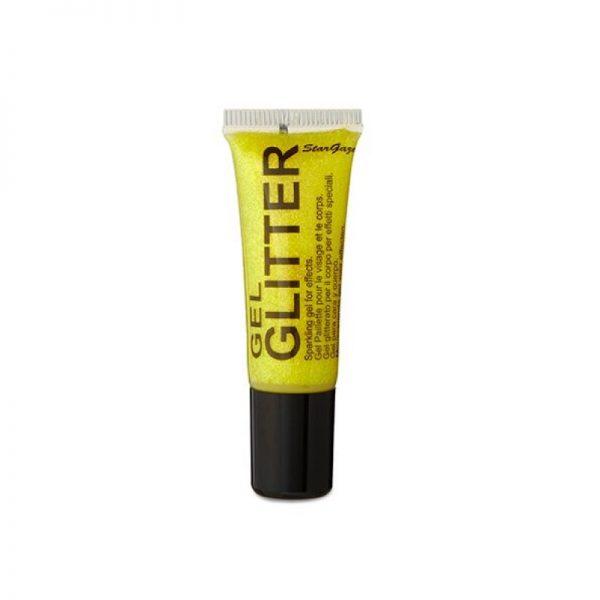 Yellow gel body glitter