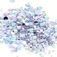 AB Round acrylic rhinestones