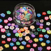 fimo flower slices