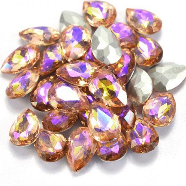 AB Pink Champagne Rhinestone crystals
