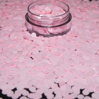 Baby pink semi matte dots