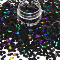 Black holographic dots 3mm size