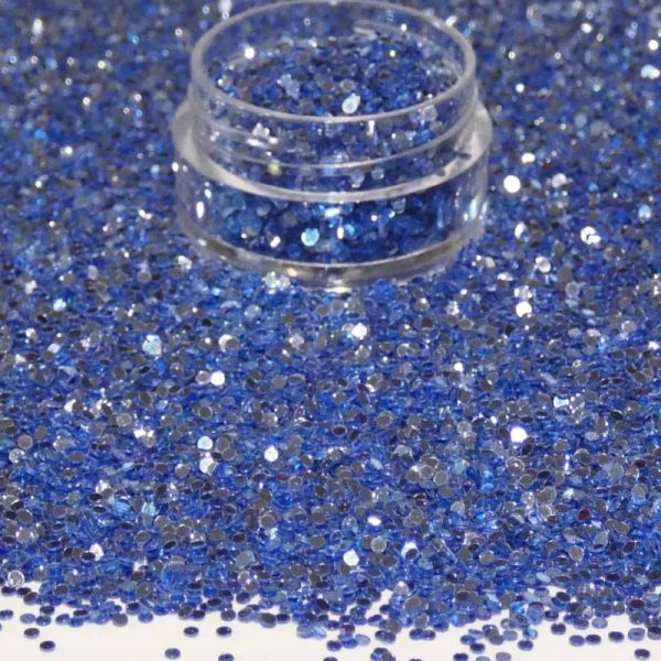 Blue Metallic Dots 1mm