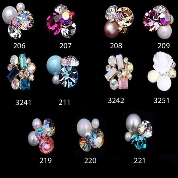 Crystal Pearl Alloy decorations