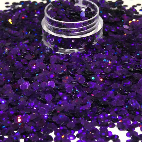 Dark Purple Holographic Dots 3mm Size