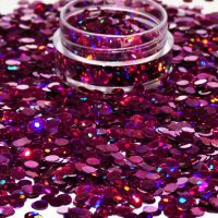 Fuchsia Holographic Dots 3mm