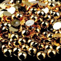 Gold Half Pearls 1.5mm 3mm Mix