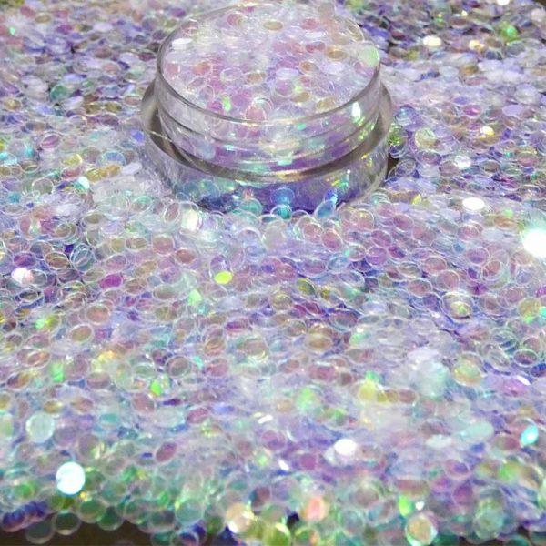 Lavender Iridescent Dot 3mm