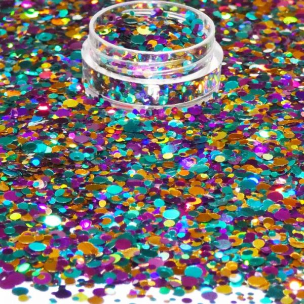 Mixed Holographic Dots 1mm 2mm 3mm