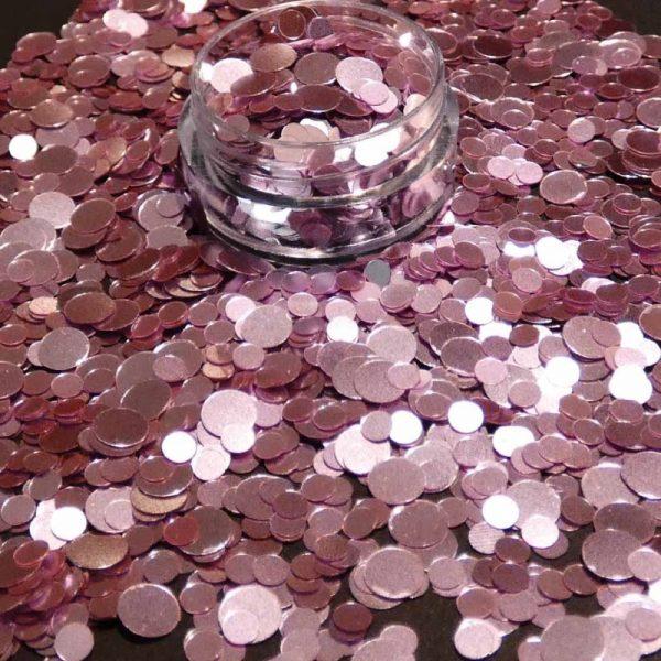 Pink Metallic Dot Mix 3mm 5mm
