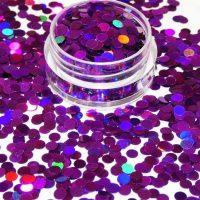 Purple Holographic Dots 3mm Size