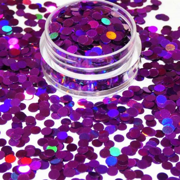 Purple Holographic Dots 3mm Size